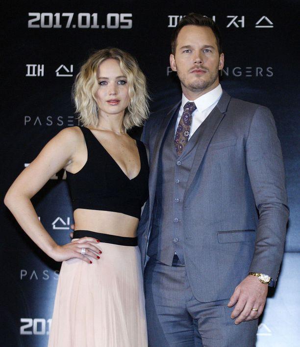 Jennifer Lawrence ja Chris Pratt näyttelivät yhdessä.