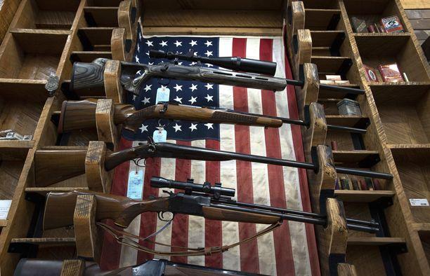 Tältä näyttää aseita myyvä liike Georgian osavaltiossa.