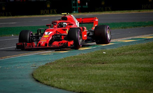 Kimi Räikkösen mukaan halo-turvakaaresta oli Australian osakilpailussa vain hyötyä.