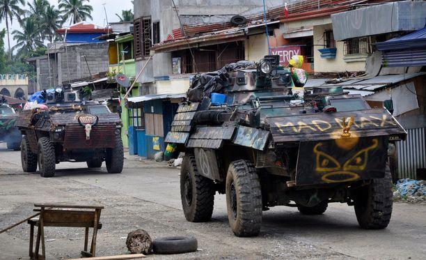 Filippiinien armeija taistelee islamisteja vastaan. Arkistokuva Marawi Citysta Mindanaon saarelta kesäkuulta.
