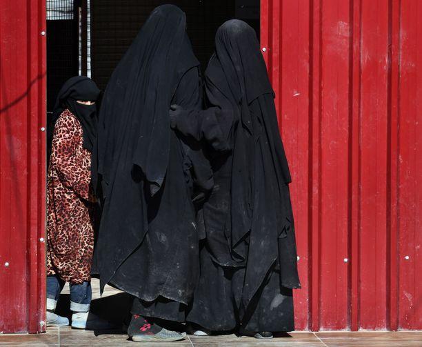 Syyrian al-Holin leirillä on Isisin kalifaatissa asuneita naisia ja lapsia. Heidät siirrettiin leirille kalifaatin romahdettua. Juttu jatkuu kuvan jälkeen.