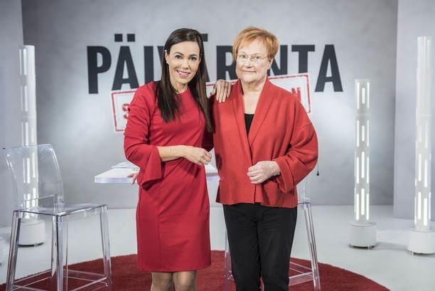 Presidentti Tarja Halonen saapui vieraaksi Susanne Päivärinnan ohjelman uusimpaan jaksoon.