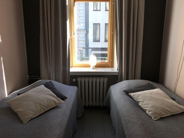 Yhteisten makuusalien lisäksi hostellista löytyy myös esimerkiksi kahden hengen huoneita.