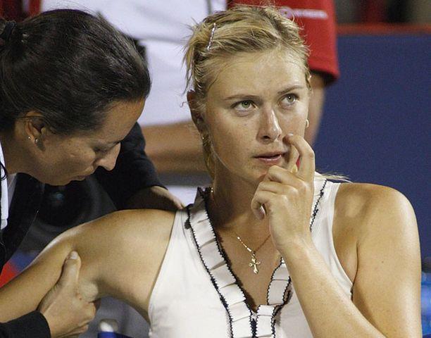 Maria Sharapova on WTA-kiertueen rankilistalla tällä haavaa sijalla 17.