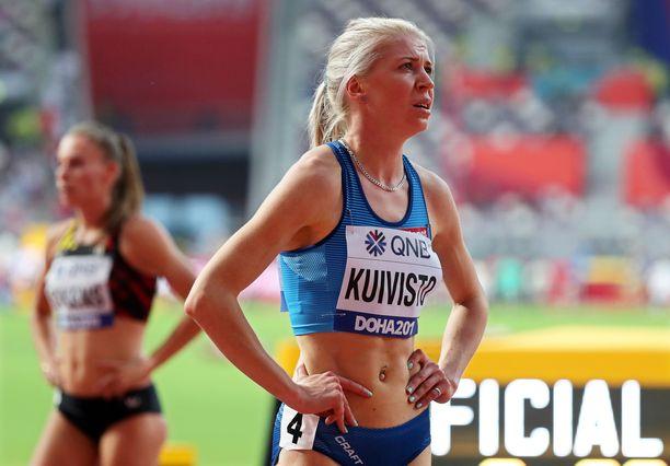 Sara Kuivisto oli ennätyksestään huolimatta hieman pettynyt.