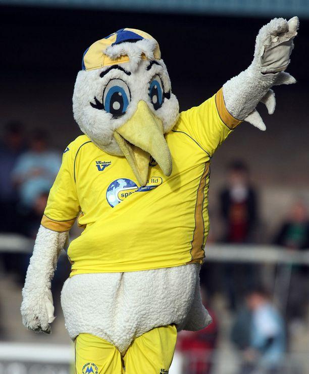 Torquay Unitedin Gilbert-maskotti ei ollut toivottu vieras tv-peliin.