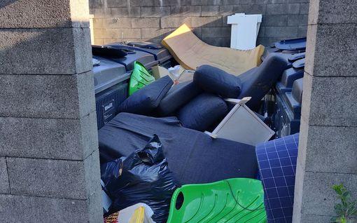Rotat vilisevät roskavuorten liepeillä – ällöttävä jäteongelma piinaa ihmisiä Helsingin Kontulassa