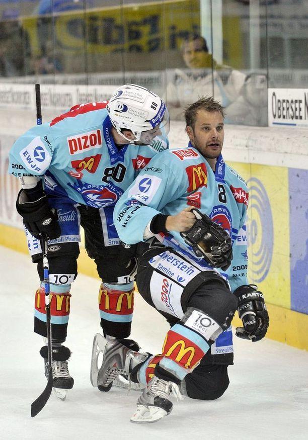 Myös Sveitsin liigan Rapperswilissa sattui ja tapahtui.