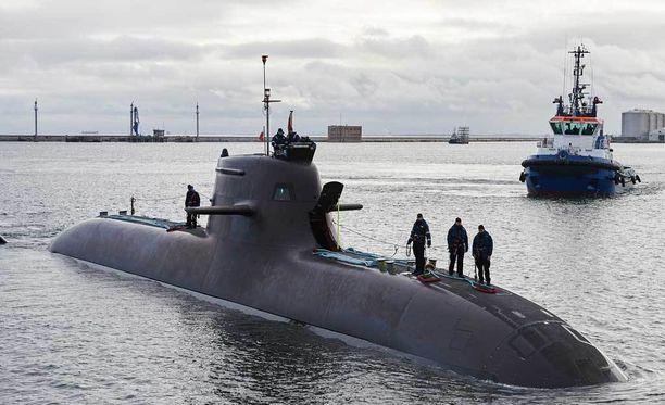 Kuvassa saksalainen 212A-tyypin sukellusvene Puolan satamassa marraskuussa 2015.