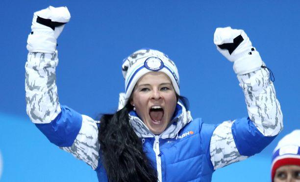 Krista Pärmäkoski yrittää viimeistellä Suomen olympiakisat plusmerkkisiksi.