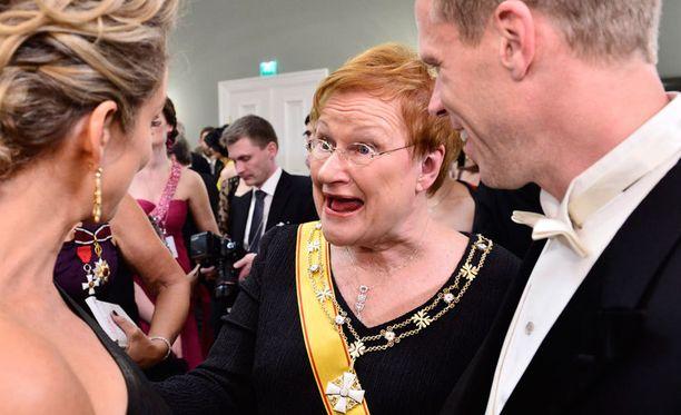 Presidentti Tarja Halonen kertoi syksyn kiireistään.