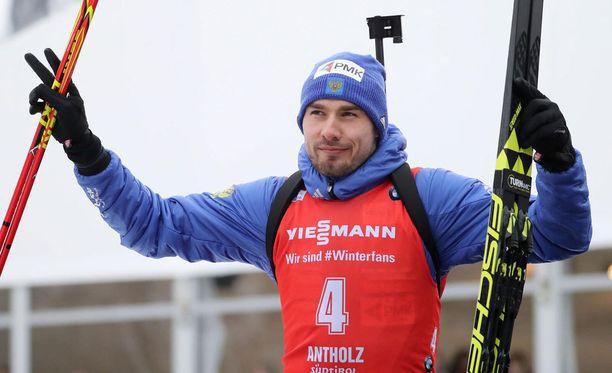 Anton Shipulin voitti Kontiolahdella.