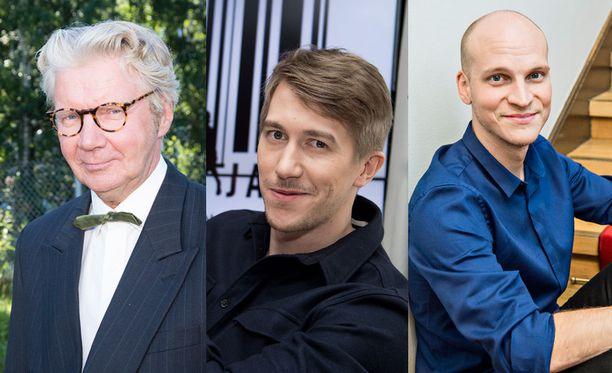 Pirkka-Pekka Petelius, Jussi Vatanen ja Riku Nieminen olisivat lukijoiden mielestä hyviä valintoja Saturday Night Liveen.