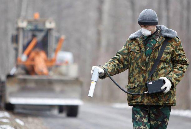 Sergei Horloogijn teki vuonna 2011 säteilytutkimuksia lähellä Tshernobylin sulkualuetta.