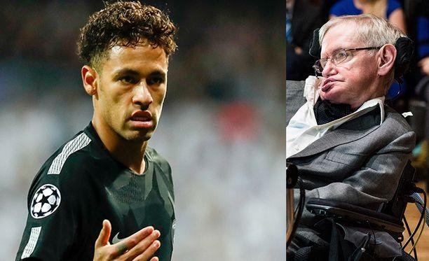 Neymarin kuvapäivitys Stephen Hawkingista ei mennyt nappiin.