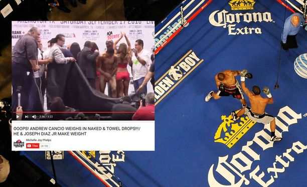 Andrew Cancion nyrkkeilypunnitus meni veikeästi pieleen.
