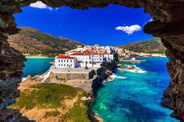 Myös kreikkalaiset käyvät Androksella vaelluslomilla.