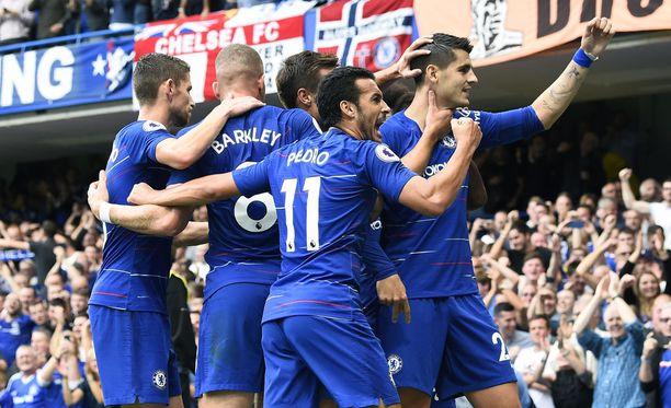 Chelsea juhli Arsenalia vastaan.