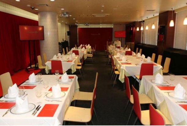 Ravintolasali on muuttunut fine dining -paikaksi.