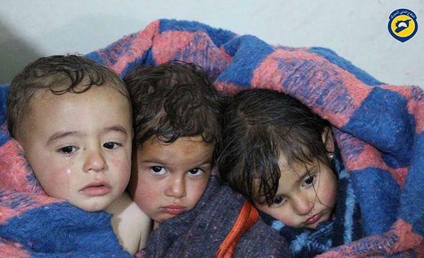 Iskussa kuoli ja haavoittui paljon lapsia.