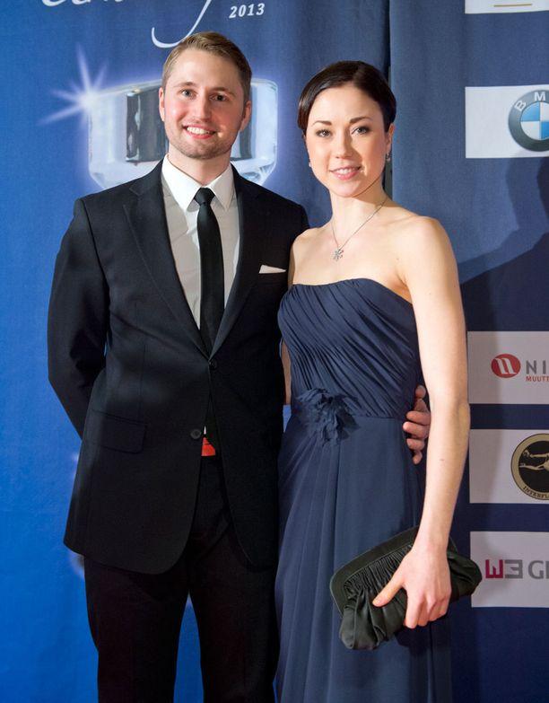 Tommi ja Laura edustivat vuonna 2013 yhdessä Urheilugaalassa.