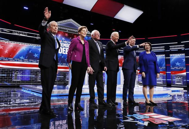 Demokraattien presidenttiehdokkaat väittelivät Las Vegasissa, Nevadassa.