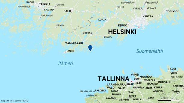 Karilleajo tapahtui Tammisaaren vesillä, Ängholmenin pohjoispuolella Summarön sataman tuntumassa.