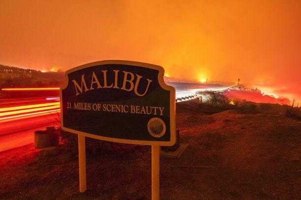 Myös Malibun hienostoalue on kärsinyt pahoja tuhoja
