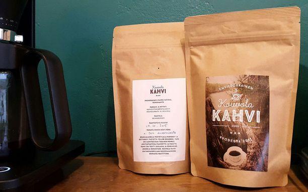 Kouvola-kahvi eettisesti tuotettua. Kahvipavut tulevat brasilialaiselta perhetilalta, joka saa kunnollisen korvauksen työstään. Eettisyys on otettu huomioon myös pakkauksessa.