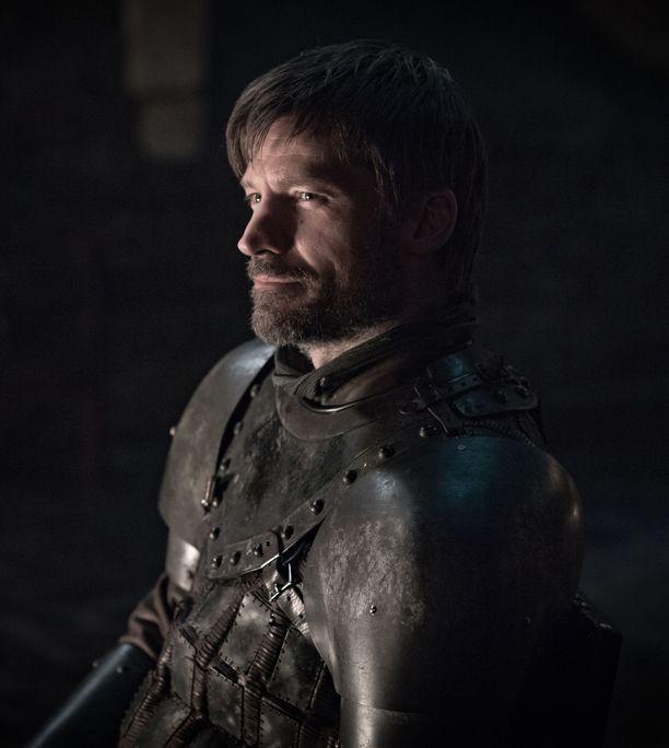 Nähdäänkö kahdeksannella tuotantokaudella Jaime Lannisterin ja Tarthin Briennen lähentyminen? Jaime Lannisteria näyttelee Nikolaj Coster-Waldau ja Brienneä  Gwendoline Christie.