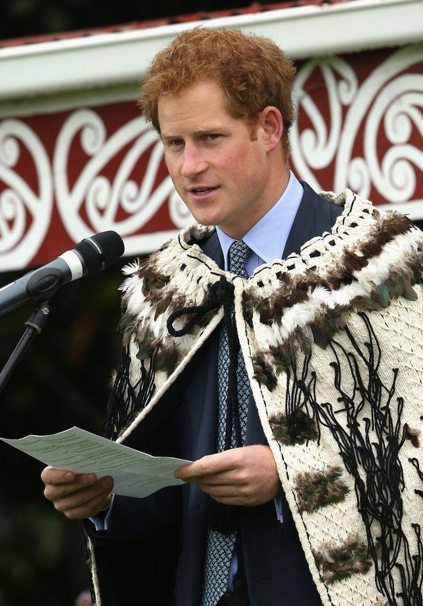 Prinssi Harry piti tilaisuudessa puheen.