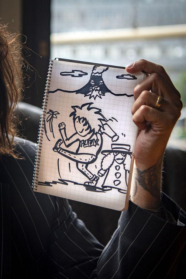Hanoi Rocksin kitaristi Nasty Suicide toimi esikuvana Sami Yaffan sarjakuvahahmolle Punkki.