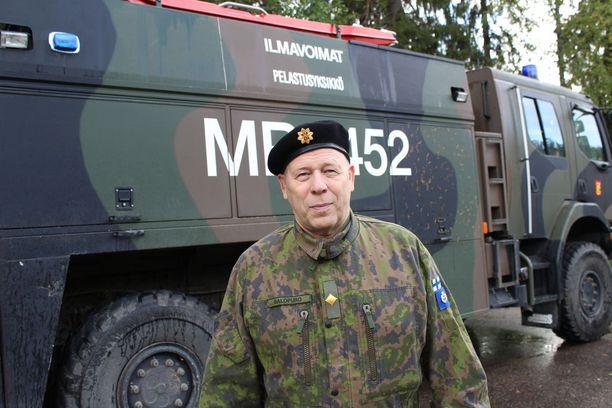 Ilmavoimien pelastuspäällikkö Risto Salopuro.