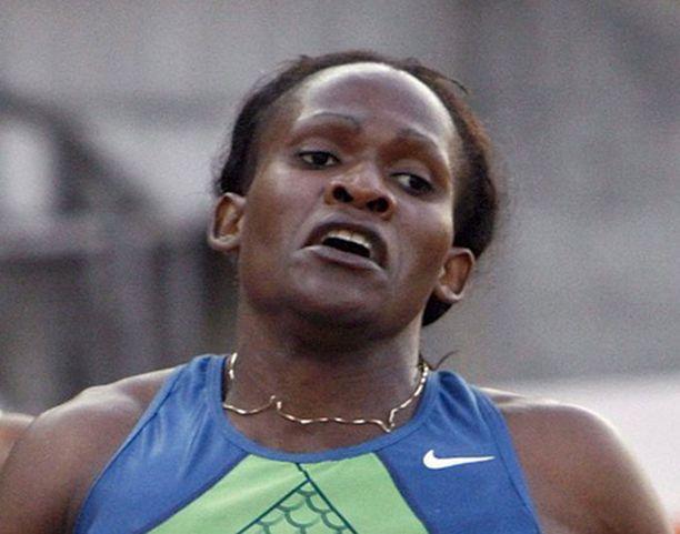 Maria Mutola iloitsi kisan kovasta tasosta.