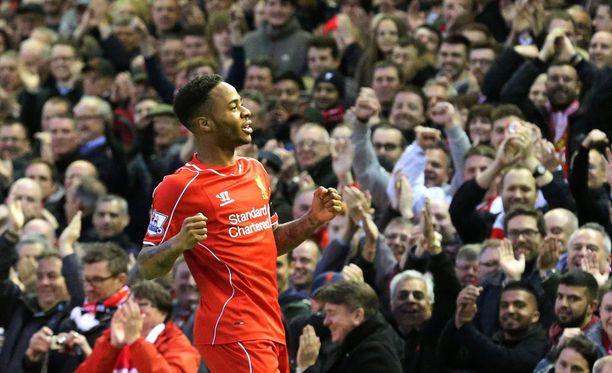 Raheem Sterling on Liverpoolin tehokkain maalintekijä Valioliigassa.
