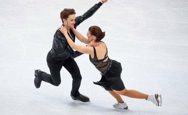 Jussiville Partanen ja Cecilia Törnin esitys sujui ilman suurempia takaiskuja, mutta jatkopaikkaan se ei riittänyt.