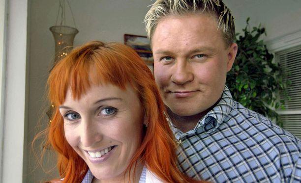 Jutta ja Petteri yhdessä vain vähän ennen Petterin traagista hukkumiskuolemaa.