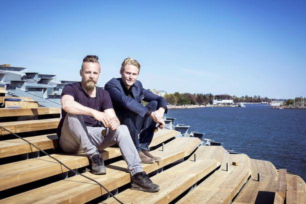 Jasper Pääkkönen ja Antero Vartia Löylyssä vuonna 2016.