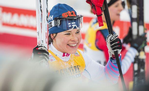 Krista Pärmäkoski jäi niukasti palkintopallin ulkopuolelle. Arkistokuva.