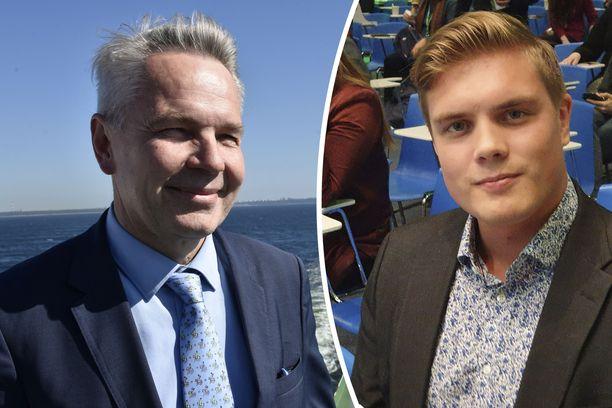 Vihreiden Pekka Haavisto (kuvassa vasemmalla) löysi erityisavustajan eduskunnassa järjestetystä kuoroesityksestä. Jeri Aalto on nähnyt työssään paljon.