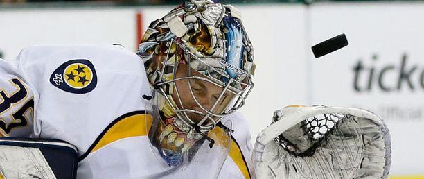 Pekka Rinne ja Nashville jäivät NHL:n pudotuspelien ulkopuolelle.