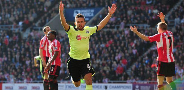 Yohan Cabaye osui Newcastlelle.