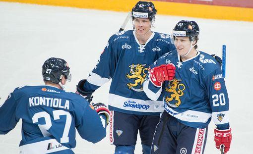 Miro Heiskanen ja Eeli Tolvanen olivat Suomen voiton takuumiehiä.