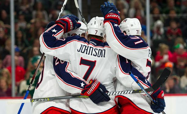 Columbus Blue Jackets on hurjassa lennossa.