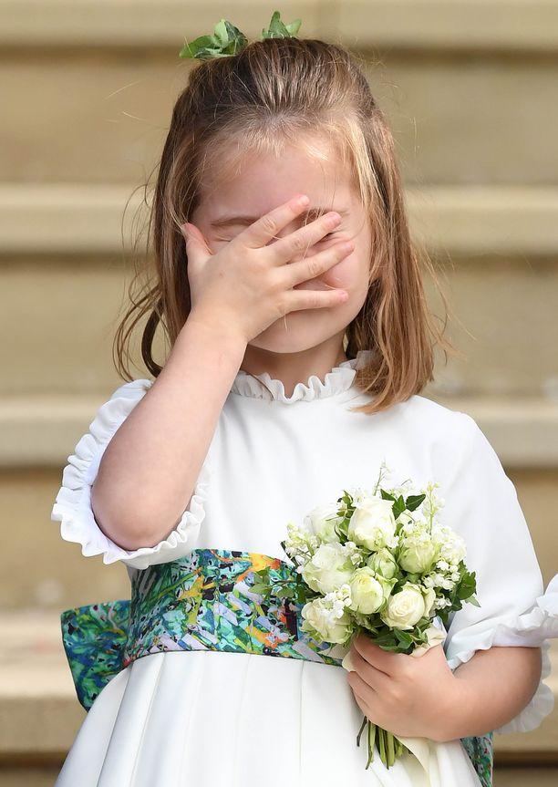 Prinsessa Charlotte on prinssi Williamin ja herttuatar Catherinen tytär. Prinsessa keksi luovan tavan tuulelta suojautumiseen.