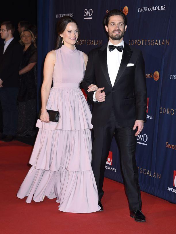Sofia ja Carl Philip edustivat yhdessä Ruotsin urheilugaalassa viime tammikuussa.