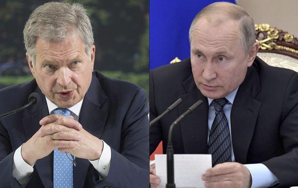 Tasavallan presidentti Sauli Niinistö isännöi Venäjän presidentti Vladimir Putinin vierailua keskiviikkona.