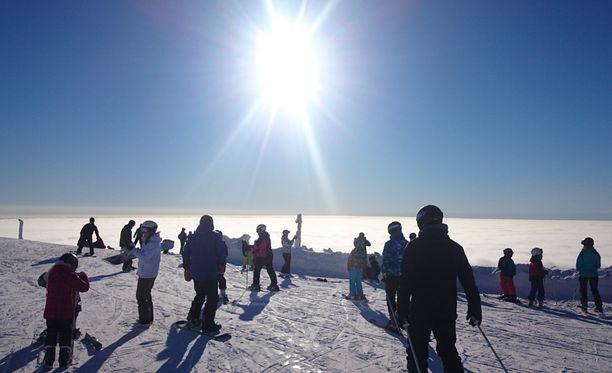 Upeaa pilvi-ilmiötä todistettiin Ylläksellä torstaina.