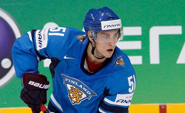 Valtteri Filppula keräsi kolme syöttöpistettä Ranska-ottelussa.