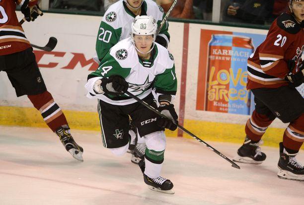 Joel Kiviranta on Dallas Starsin neljäs suomalaispelaaja tällä kaudella.